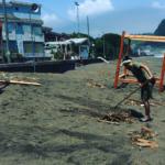 太海で初体験・海辺の台風被害!!避難からの清掃活動