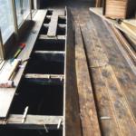 築50年以上のお寺さんの住居部分からガチビンテージの建具や床板をもらってきた話